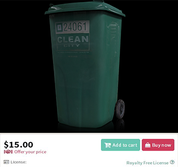 Realistic Trash Can
