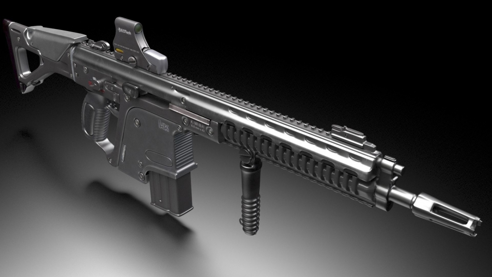 Heckler and Koch G56 - automatic rifle 3D model